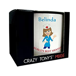 Nurse Mentor Gift, Mentors Mug, Personalised Thank You Gift, Crazy Tony's, Thanks For All Your Help Gift, Design 1