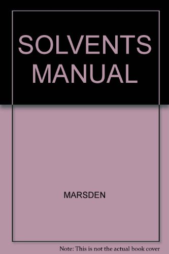 solvents-manual