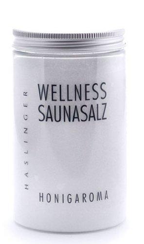 Wellness Sauna Salz Honigaroma, Peelingsalz für die Sauna, 450 g