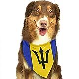 Osmykqe Hund Bandanas Barbados Flagge einstellbar Hundehalsband Katze Schal Welpen Bandans Haustier Zubehör