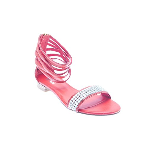 CUIR ROUGE SANDAL BPRIVATE Rouge