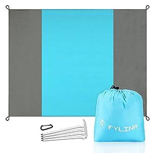 Wasserdichte Strandmatte Faltbar Picknickdecke und Stranddecke Schnell Trocknende Extra Großes 7' X 9' Fuß mit Tasche für Outdoor am Strand auf der Wiese Picknick Frühling Sommer an die frische Luft gehen - Leicht zu transportieren
