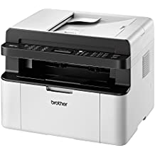 Brother MFC-1910W - Impresora multifunción láser monocromo compacto (WiFi, con fax), Color Gris/ Negro