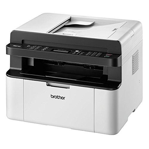 Brother MFC 1910W   Impresora multifunción láser monocromo compacto (WiFi, con fax), Color Gris/ Negro