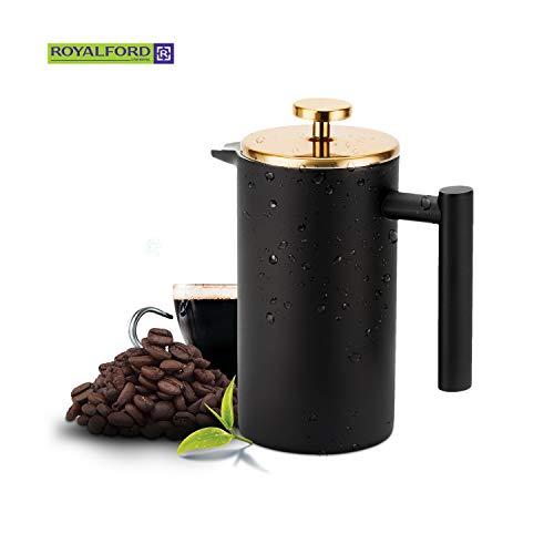 Royalford Kaffeebereiter, 800 ml, Edelstahl, tragbar, auslaufsicher, für warmen Kaffee für Stunden – bewahrt Geschmack und Frische