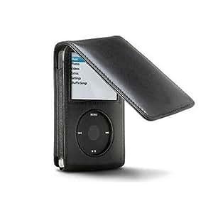 TeckNet Apple iPod Classic 120GB 160GB Leather Flip Case - Black (6th & 7th Generation 120GB 160GB, 2009 Edition)