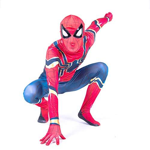 YIWANGO Erwachsener Kind Spiderman Kostüm Kostümball 3D Digitaldruck Party Cosplay Kostüm,Adult-XL