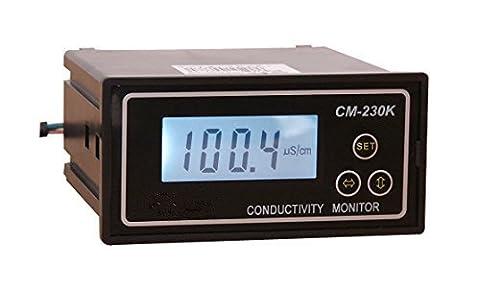 moniteur de conductivité conductivité Mètre 0–1999us/CM erreur: 2% F.s 4–20mA Sortie de signal d'alarme contacts Sortie ATC
