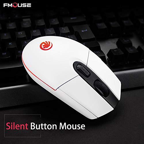 f730567d8178 FMOUSE Mouse Desktop Wireless Mouse 1600DPI Laptop Wireless Mouse  Recargable Wireless Mice Silent Button (Color : White)
