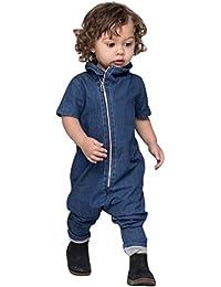 Longra Ropa para bebés ropa de mezclilla manga corta de manga corta trajes de mono