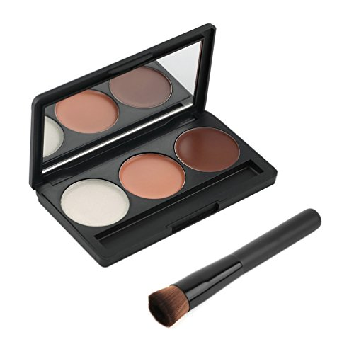 Maquillage - Palette de 3 couleurs pour le contournage, Contour/Blush/Highlight by RIVENBERT