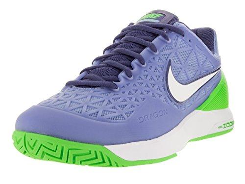 Nike Damen Wmns Zoom Cage 2 Turnschuhe Azul (Chlk Bl / White-Vltg Grn-Dk Prpl)