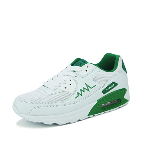 Men's Breathable White Tennis Shoes N69 green white