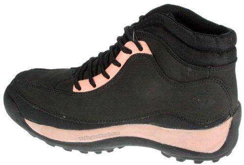 ET Safety en dentelle pour femme Noir/ros'en daim véritable Bottines de travail avec couvre-orteils de sécurité Rose - noir