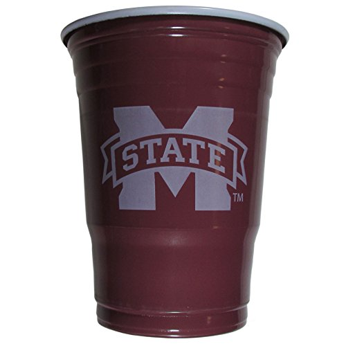 Siskiyou NCAA Mississippi State Bulldogs Kunststoff Spiel Tag Tassen, Erwachsene, Maroon (Maroon Spiel)