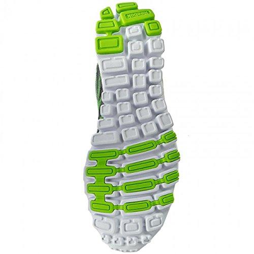 Reebok Hexaffect Sport, Chaussures de Running Entrainement Homme Argent - Plateado  (Alloy / Solar Green / White)