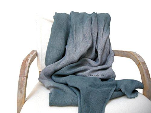 Dekorative graue decke,Gemütliche weiche Hanfdecke, Bettdecke natürliches Gewebe, BeccaTextile. -