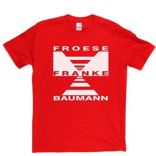 Froese Frank & Baumann Prog Rock Music Tee T-shirt Rot