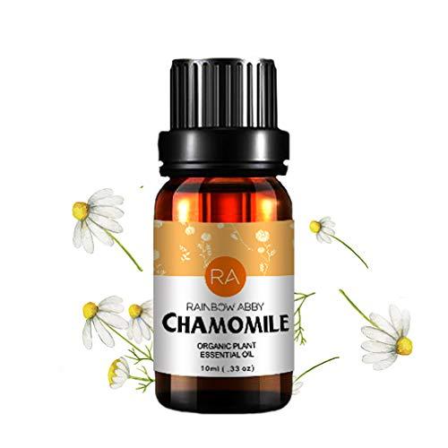 RainbowAbby Kamille Ätherisches Öl, 100% Reines Natürliches Aromatherapie Kamillenöl für Diffusor (10ML) - Blüten-parfüm-körper-Öl