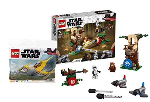 LEGO Star Wars 75238 - Action Battle Endor Attacke, Bauset Star Wars Naboo Starfighter #30383, Polybag (Lego Ewok Minifiguren)