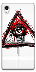 The Racoon Grip printed designer hard back mobile phone case cover for Sony Xperia M4 Aqua. (Doodler)
