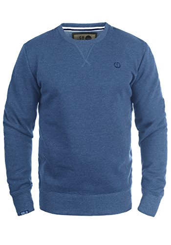!Solid Benn O-Neck Herren Sweatshirt Pullover Pulli Mit Rundhalsausschnitt, Größe:M, Farbe:Faded Blue Melange (1542M) High Neck Sweatshirt