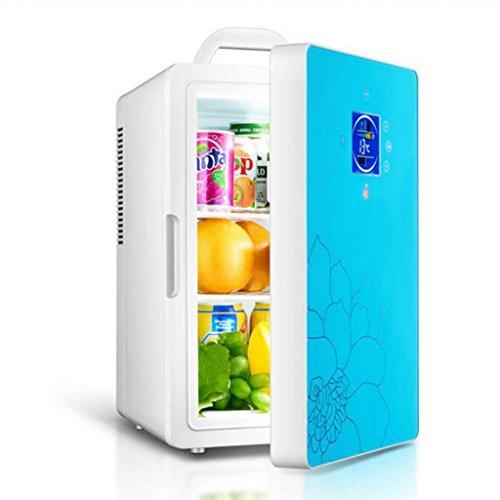 Réfrigérateur de voiture de 16L, réfrigérateur de double-noyau réfrigérateur portatif de pique-nique de réfrigérateur de voiture réfrigérateur de chauffage de réfrigération de ménage de 12V / 220V