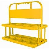 Portabottiglie pieghevole per 8bottiglie 750ml giallo