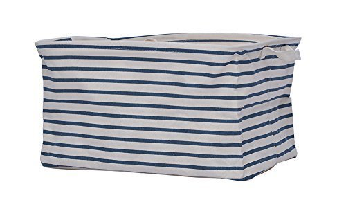 GreenForest® Home Storage Bin Home Organizer with Totes, Blue Strips