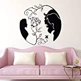yaoxingfu Decoración para el hogarVinilo Tatuajes de Pared Nuevo Diseño Rosa Etiqueta de La Pared Inspirado Amor Arte de la Pared Mural Dormitorio Calcomanías Ay57x56cm