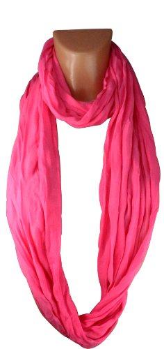 Echarpe et châle Tube XXL Loop Femmes tour de cou Homme de matériau souple et lisse en plusieurs coloris pink - Express - FBA France