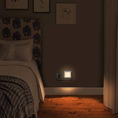 Nachtlicht Steckdose mit Dämmerungssensor, Emotionlite 2 Stück Helligkeit Stufenlos Einstellbar Sehr gut für Kinderzimmer, Treppenaufgang,Schlafzimmer, Küche, Orientierungslicht,WarmWeiß - TreppenaufgangSchlafzimmer, Stufenlos, Stück, Steckdose, sehr, OrientierungslichtWarmWeiß, nachtlicht kinder, Nachtlicht, mit, Küche, Kinderzimmer, Helligkeit, GUT, für, Emotionlite, einstellbar, Dämmerungssensor