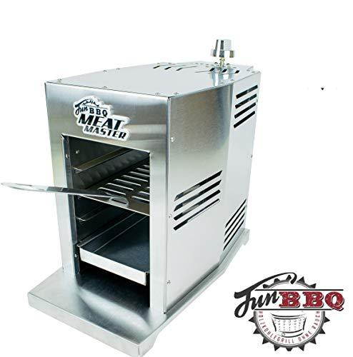 Fun BBQ Meat Master Set 800 Grad Gas Oberhitze Grill mit Grillrost,  Burgerplatte, Pizzastein und Abdeckung Bekannt aus dem TV