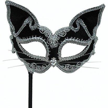 Katze Masquerade Maske - Erwachsene Silvester Weihnachten Maske - One Size