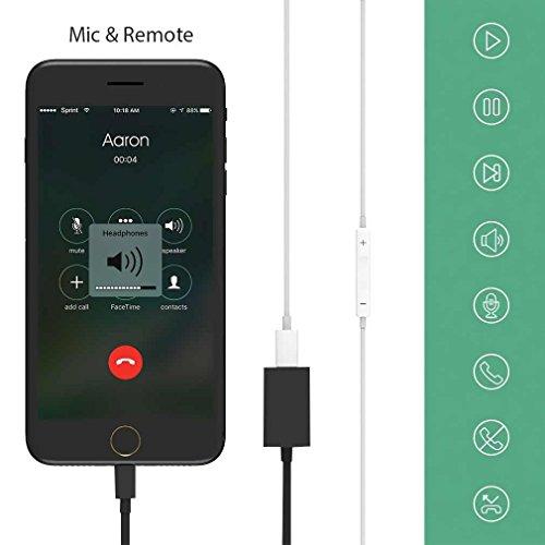 First2savvv bianca Adattatore lightning audio + ricarica - Permette di ascoltare l'audio e ricaricare contemporaneamente - Compatibile con iPhone7.7 plus.iPad Pro. iPad Mini 4.iPad with Lightning port XX-USB-I7-GG01 nero