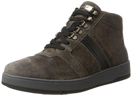 Stonefly Herren Dover 10 Velour Oil Sneaker, Grau (Charcoal 1a12), 44 EU (Herren Grau High-top-schuhe 10)