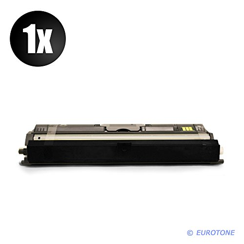 1650en Farbe (Eurotone High Quality Toner Cartridges für Konica Minolta Magicolor 1600 W / 1650 EN D / 1650 EN / 1650 EN DT / 1680mf / 1690mf ersetzt schwarze BK Patrone - kompatible Premium Alternative - non oem)