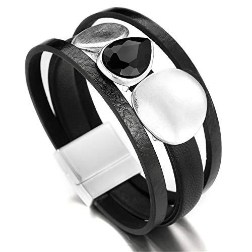 Daawqee Pulseras Genuine Leather Bracelets For Women New...
