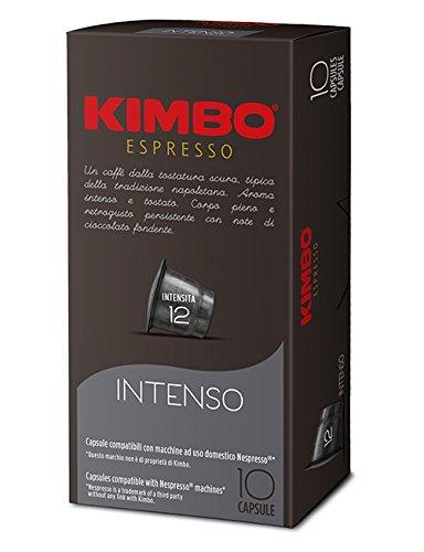 KIMBO Intenso - intensità 12- capsule compatibili Nespresso*® 10 Astucci da 10 capsule (tot 100 capsule)