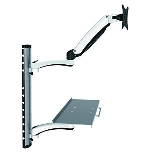 Tastaturhalter HFTEK/® FY02CWS Workfit Workstation Monitor Halterung Halter Wandhalterung bis zu 27 Zoll mit VESA 75//100