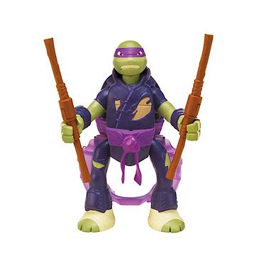 Teenage Mutant Ninja Turtles - 14cm Throw 'n Battle Donatello [UK Import] Tmnt Decke