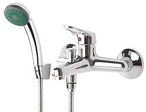 Armatur für die Badewanne mit Brauseschlauch Wandhalter Handbrause ... | {Badewannenarmaturen mit brause 93}