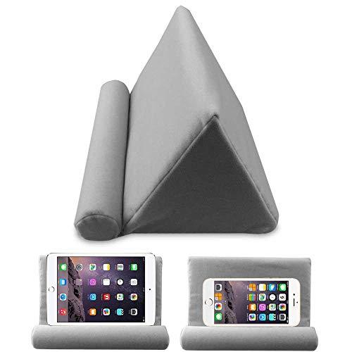 Pawaca Tablet-Sofa-Halterung für iPad und Kissen, universell einsetzbar, geeignet für Bett, Boden, Schreibtisch, Schoß, Sofa, Couch grau (Tablet-kissen)