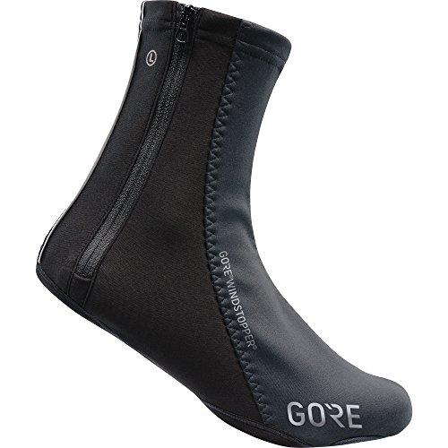 Gore wear copriscarpe antivento unisex da ciclismo, c5 windstopper overshoes, taglia: 42-44, colore: nero, 100388