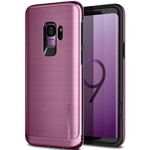 Obliq Galaxy S9 Hülle, [Slim META], Schlankes Dual Layered Case, TPU mit äußerem PC mit metallischem gebürstetem Finish und Anti-Shock Technologie für Das Samsung Galaxy S9 (2018) (Lila Lila)