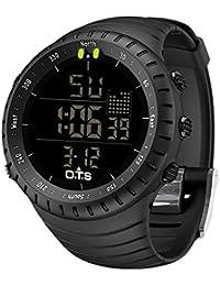 Palada - Reloj de pulsera digital para hombre con movimiento de cuarzo y retroiluminación LED, con formato de 24…