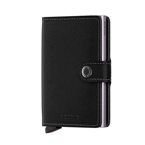 Secrid Cardprotector - Cartera de piel con tarjetero (protector de tarjetas con identificación por radiofrecuencia), color negro