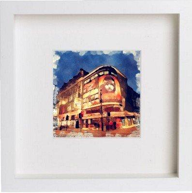 London | Les Misérables gerahmtes Kunstwerk/Bild/Foto/Kuriositäten Rahmen | Einzigartiges Geschenk 25x 25cm