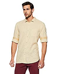 Spykar Mens Beige Slim Fit Casual Shirts (X-Large)