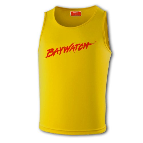 Kostüm Männer Baywatch - LifeguardgearHerren Top, Einfarbig Gelb Yellow And Red